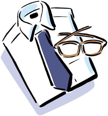 老眼鏡とシャツ